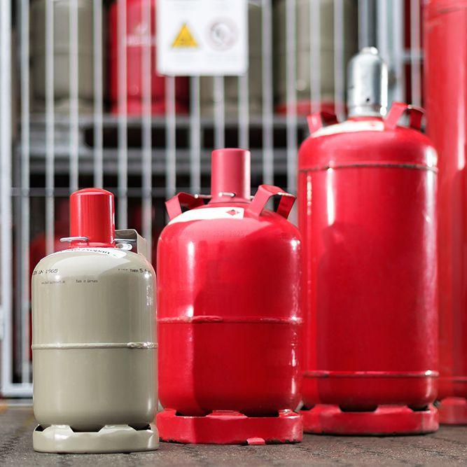 Propan-Gas 5kg-Füllung Camping-Nutzung grau